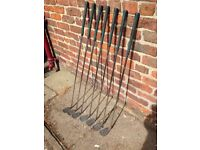 Set of Irons for sale/ 3-9 - steel shafts