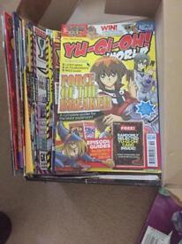 Yugioh magazines and books