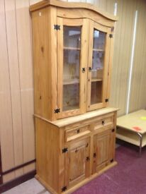 corona mexican pine wall unit