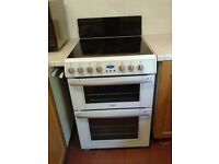 Electric Cooker. Belling E665 Ceramic/Halogen Hob. Double Oven