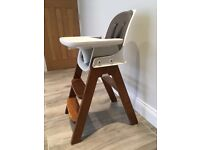 Oxo Tot Chair in Taupe/Walnut