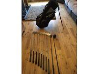 Set of Lynx Black Cat Golf Clubs and bag