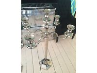Large hexagon base candelabra