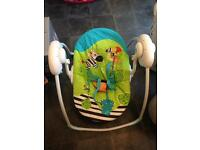 Baby seat swing