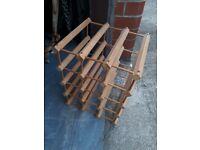 Wine Rack - wooden - 12 bottle storage