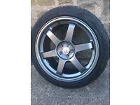 """18"""" Graphite Grey Alloys & Tyres"""
