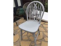 Solid wood painted wheelback chairs