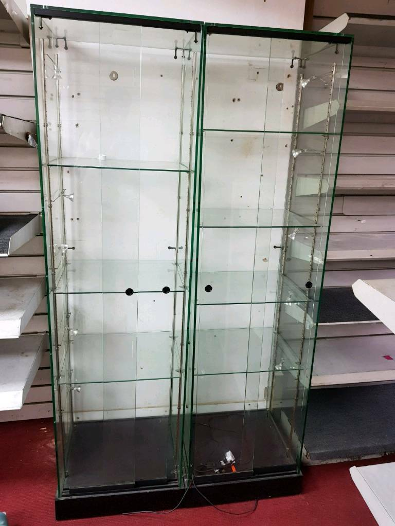 Glass shelves with light