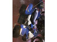 immaculate polaris 50cc kids quad bike, less than 10 hours use