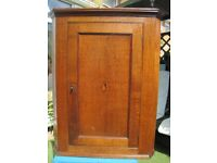 Victorian corner cupboard, oak, wall mounted circa1870 great condition