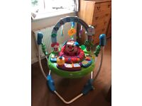Fisher price jumperoo, only 6 months old and barely used, all lights and sounds working