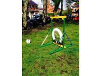 Dog agility tyre jump