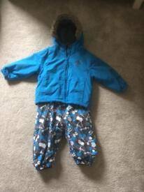 Boys tresspass snowsuit