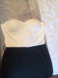 Cream and black jumpsuit size 12 new