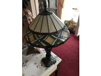 Beautiful lamp with Tiffany style shade.
