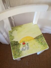 Winnie the pooh chair - Hand painted wooden children's chair