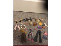 Large Bundle * Bratz dolls outfits & bags & shoes