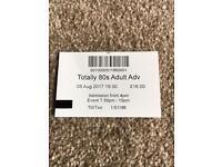 Totally 80s Concert Ticket. Trentham Gardens.