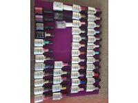 Huge nail tech bundle everythin you need including case 40+ gel polishes glitters acrylic,brushes