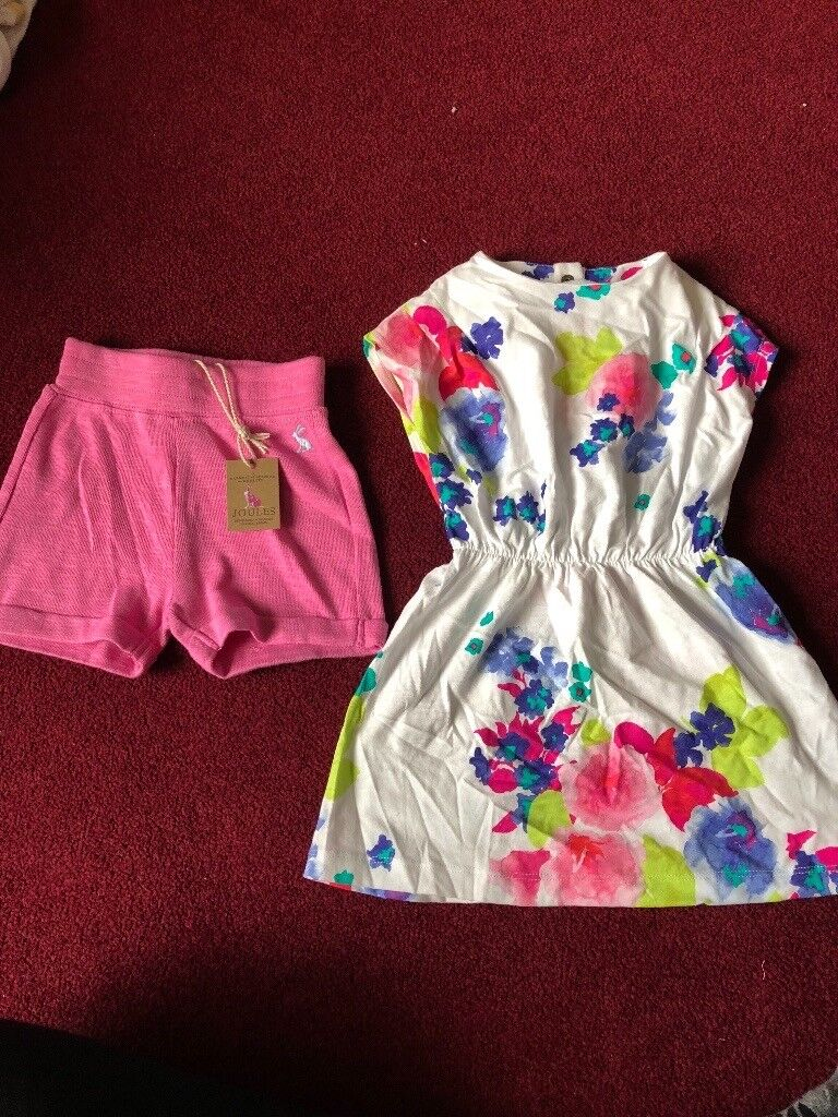 Girls 9-12 Joules dress & shorts with tags
