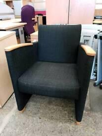 X12 black reception tub chair £40 each
