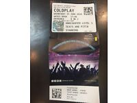 Coldplay 15/6 standing ticket