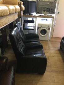 Black leather 2/1/1 suite