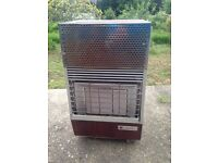 Outdoor gas heater with (empty) bottle. Not tested