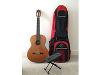 Alhambra Classical Guitar (Model 5P) with case & foot rest- Excellent Condition