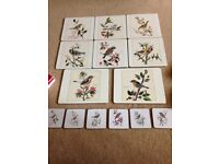 Sheraton vintage wild bird place mats and coasters - boxed Birds by A Marlin