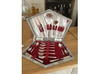 Yeoman Plate EPNS afternoon tea 22 piece cutlery set in original box