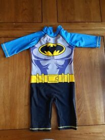 [EXCELLENT CONDITION] BATMAN SWIMMING COSTUME - AGE 3 - 4 YEARS OLD