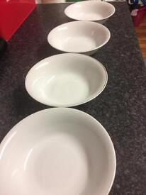 4 royal Worcester platinum bowls