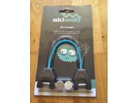 Ski Wedgie by Skiweb, accessory that attaches to skis for child to learn