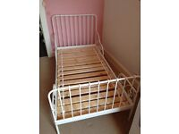 IKEA Minnen extendable Bed Frame & Slatted bed base.
