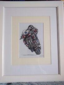 Framed Michael Dunlop watercolour( not print)