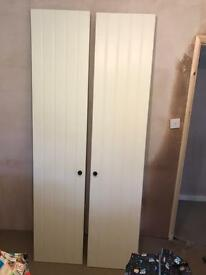 FREE pair white wardrobe doors