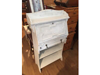 Narrow Hall Bureau - Shabby chic - Original handles Size L 27in D 12in H 44in. Free local delivery.