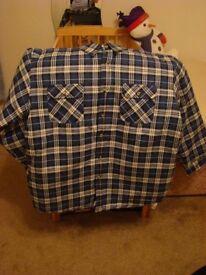 New mens padded check shirt size XL