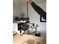 Ceiling candle pendant light fitting