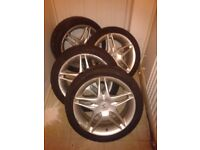 URGENT SALE Honda type R 17 inch 5 stud alloys with Falcon tyre good condition