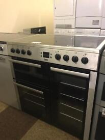 CHEAP ELECTRIC RANGE COOKER IN GREAT CONDITION 90 CM WIDE🇬🇧🇬🇧🌎🌎🇬🇧🇬🇧
