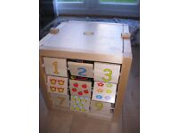 LARGE WOODEN ACTIVITY CUBE for Baby / Toddler - fabulous condition - REDUCED TO £10!