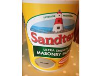 Sandtrex paint ...5 litres of smooth masonry paint in mid stone