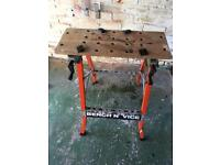 Folding bench and vice