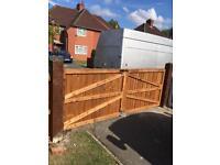 Garden driveway gates wooden gates