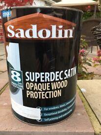 Sadolin wood paint – Limestone