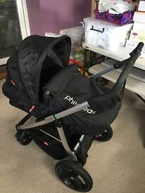 Phil and Teds SmartLux Pram - Ruby