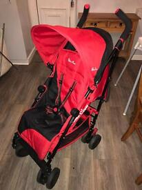 Silver cross pop 2 stroller with cosy toes and raincover