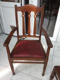 Dining Room Chairs. 2 Carvers chairs and 2 dining chairs for sale